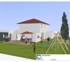 Aménagement coté terrasse V1