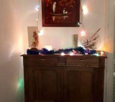Décoration de Noël faite par mon titi
