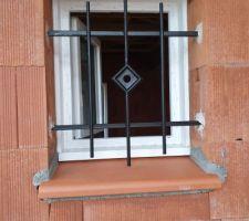 Le modèle de nos grilles de défense et nos appuis de fenêtres en terre cuite