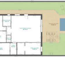 90 avec garage habitable 4m2 supplémentaire si cellier dans le garage