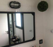 Luminaire au dessus du Miroir