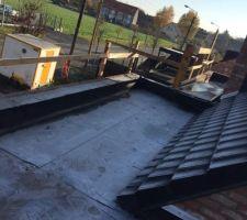 Retour toit plat façade avant