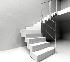 Escalier métal, modèle IMAGINE d'escalier-shop.fr