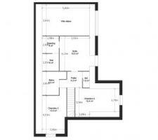 Plan de l'étage pour un R+Combles