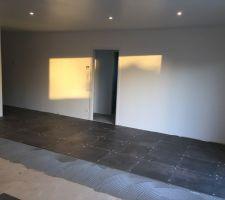 Carrelage (Lafaenza réf: EGO couleur métal cuivré 60x60)  Salon / cuisine / salle à manger / salle de bain / buanderie / dégagement