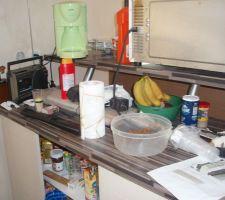 Cuisine aménagée et équipée, en cours