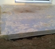 Terrasse suspendue sur vide sanitaire