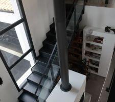 Vue du palier étage