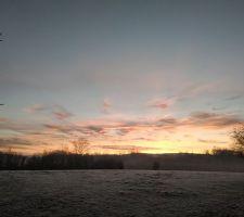 L'aube, en hiver