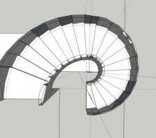 Vue 3D escalier