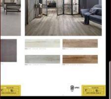 Carrelage imitation bois beige pour le RdC  carrelage imitation vous white  pr le dégagement de l'étage et les SDB