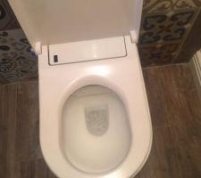 Wc lavant séchant