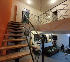 Escalier Metal/bois