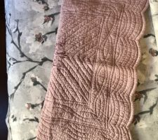 Tissu pour la jetée de lit et le coussin reçu !»