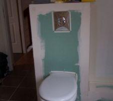 Les toilettes de la salle d'eau