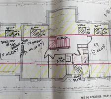 Première ébauche du futur etage.