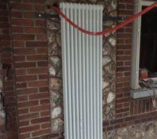 Pose radiateurs verticaux