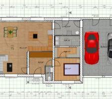 PLAN 2D avec le logiciel Sweethome3D realisé par nos soins