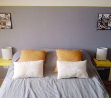 Encadrement tête de lit fini