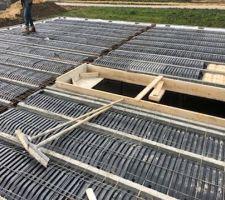 Plancher de l'étage coulage de la dalle
