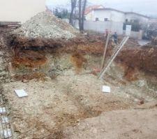 Fondation pour vide sanitaire puis sous-sol