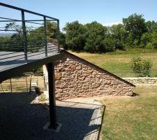 Terrasse acier / bois cette été