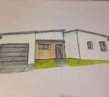 Maison style Contemporain / toit monopente
