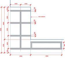 Plan structure béton pour la terrasse