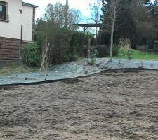 Le jardin arrière (début d'aménagement)