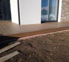 Terrasse - pose des plinthes Neowood