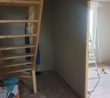 1 er etage, creation du couloir et de la chambre parental