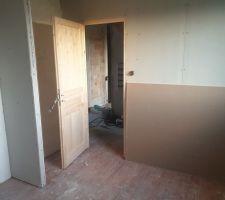 1 er etage, la chambre parental, creation de l emplacement placard