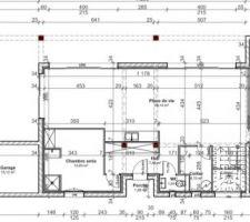 Voici le plan de la maison, que nous avons modifié plusieurs fois.