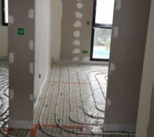 Câbles chauffants couloir étage