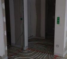 Câbles chauffants couloir entrée