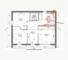 Plan Etage 1 - Recherche de l'aménagement idéal