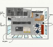 Plan Etage 1 - Aménagement OK - Etude Décoration