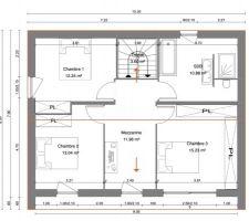 Plan Etage 1 - Proposition du constructeur