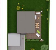 Implantation de la maison sur le terrain - le Nord est à gauche