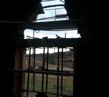 Ouverture façade sud vue de l?intérieur