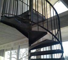 Escalier en cours