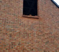 Appuie de fenêtre en briques