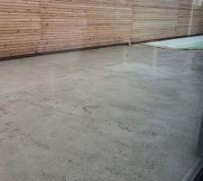 Chape maigre terrasse