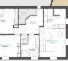 Plan étage idée 1