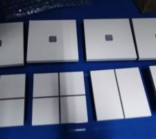 Interrupteurs pilotables / domotique aluminium