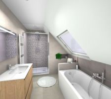 Vue de la future salle de bain