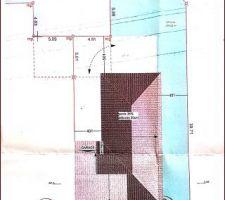 Plan de masse avant la demande de modification des 2 places et mise en places portails...