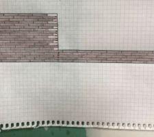 Plan projet carrelage imitation bois 120X20