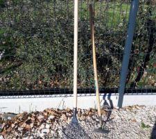 Nettoyage de l'accès à la maison : outils
