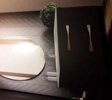 Idée meuble vasque salle d'eau suite parentale
